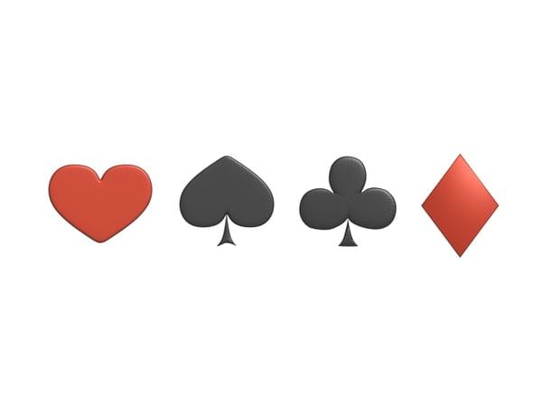 3d card symbols
