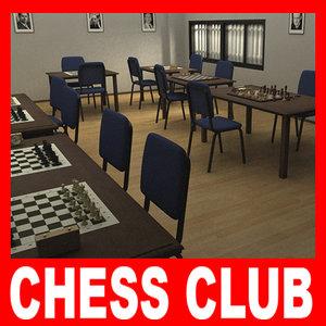 chess club 3d model