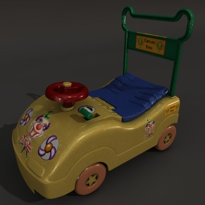 kids mini car 3d obj