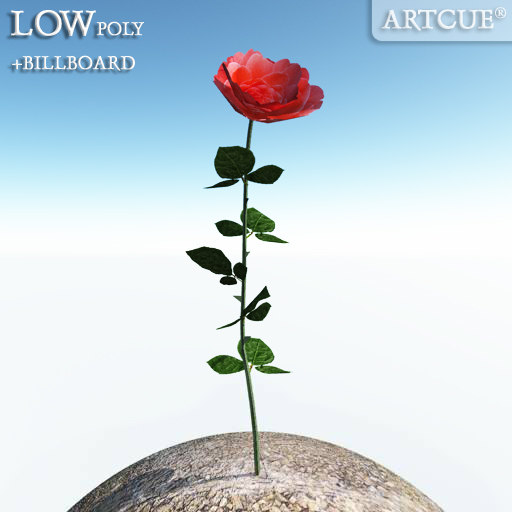 flower billboard rib 3d model