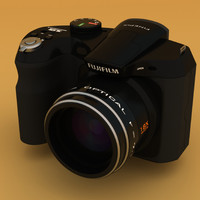 fuji s2500hd digital camera 3d model