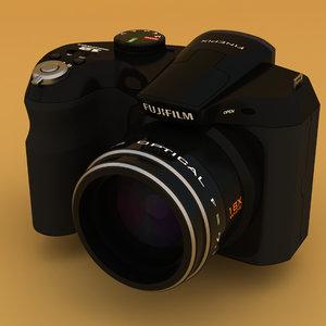 fuji s2500hd digital camera 3d model