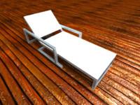 3d metallic hammock hamaca metalica model