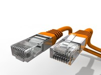 lan connector 3d model