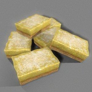 3d lemon bar