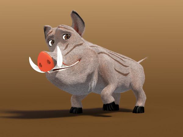3d model boar animation