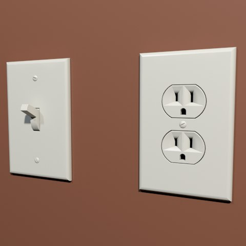 light switch outlet 3d max