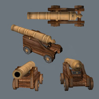 3ds max naval cannon ships