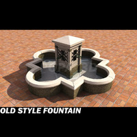 3d model old style fountain