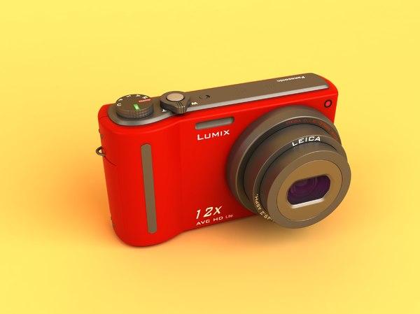 panasonic lumix dmc-tz7-k digital camera 3d model