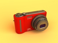 panasonic lumix dmc-tz7-k digital camera 3d model