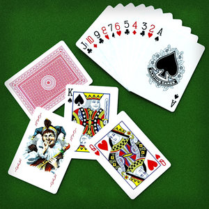 poker play cards 3d model
