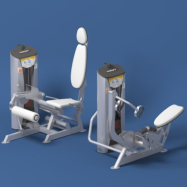 3d model precor hoist gym