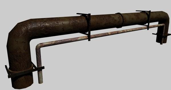 engineering pipe 3d model