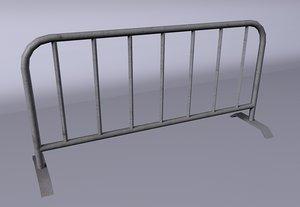 gate barrier 3d model