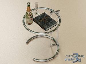 glass coffee table obj