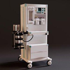 anaesthetic machine 3d obj