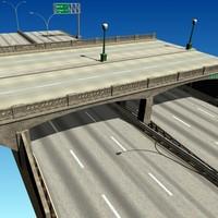3ds max urban bridge