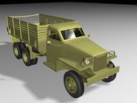 3d model studebaker wwii military truck