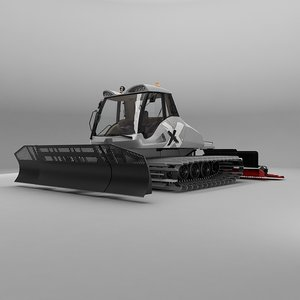 snowcat snowgroomer 3d model