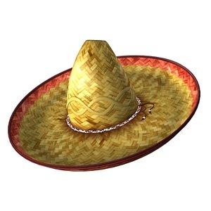 sombrero hat 3d max