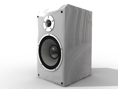 speakers audio 3d model