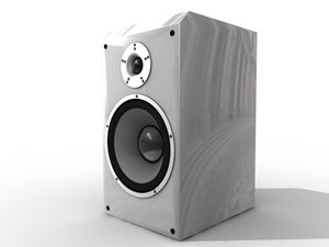 speakers audio 3d model