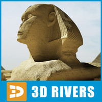 3d great sphinx model