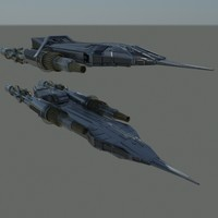 small space ship 3d model