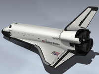 3d space shuttle challenger model