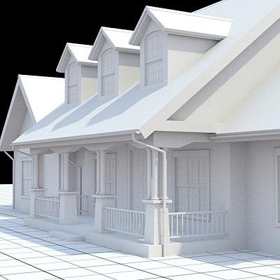 american house 3d model