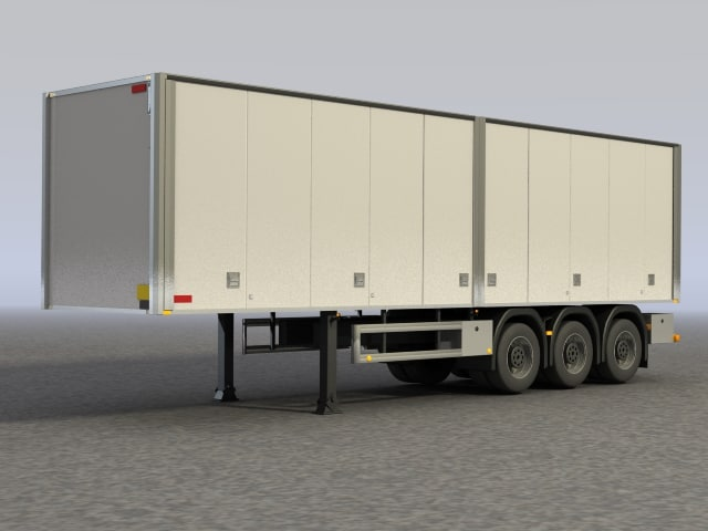 trailer scania truck 3d model