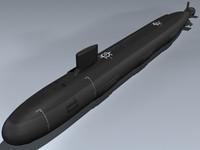 virginia submarines 3d model