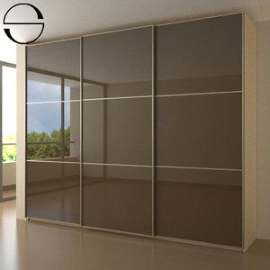 wardrobe sliding doors 3d model