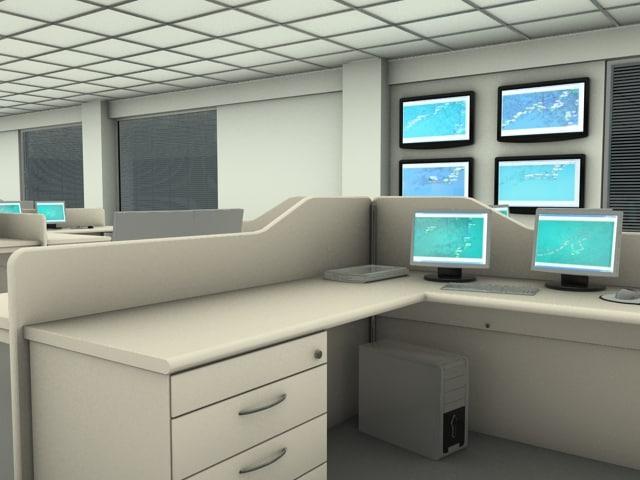 3d office work model