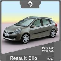 3d 2008 renault clio model