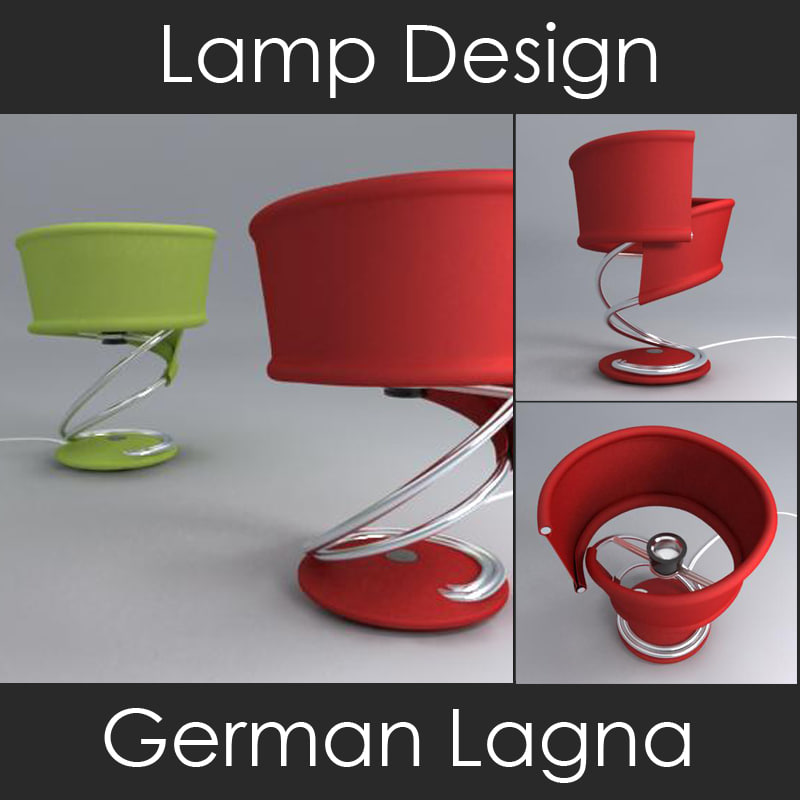3d model of decorative lamp design