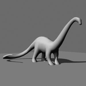 dinosaur apatosaurus 3d model