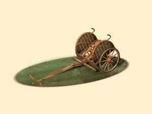 3d british chariot model