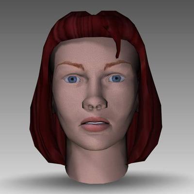 3ds girl head