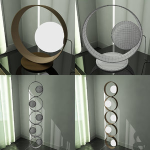 3ds max modern design lamps