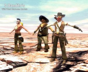 wild west 3d obj