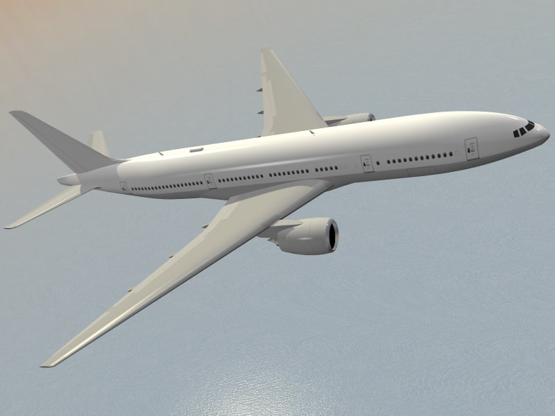 b 777-200 airliner 777 3d model