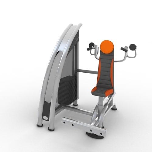 independent shoulder press 3d model