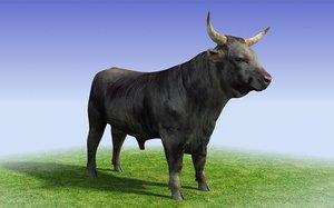 3ds max black bull