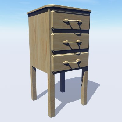 pine chest draws : 3d model