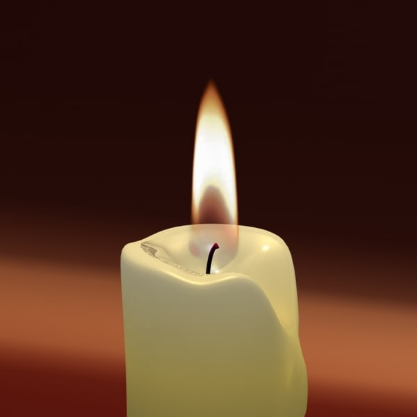 3d max candle animation light