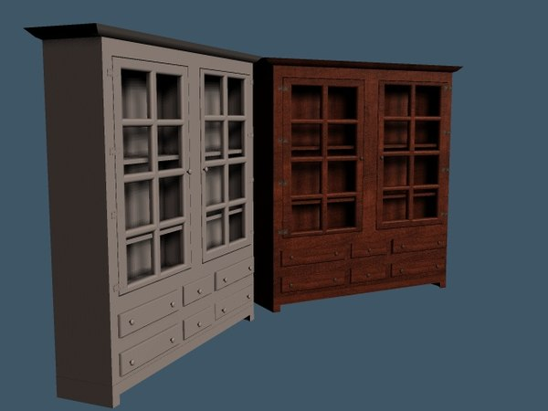 china cabinet 3d model