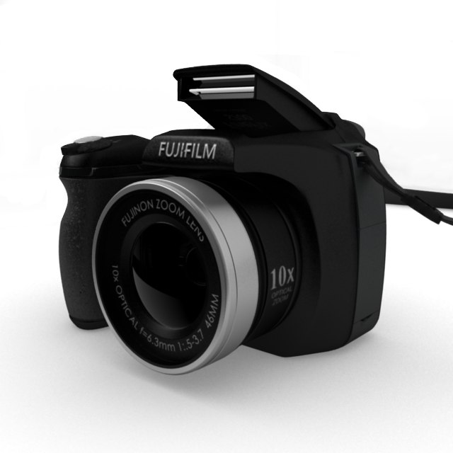 fujifilm finepix s700 digital camera 3d obj