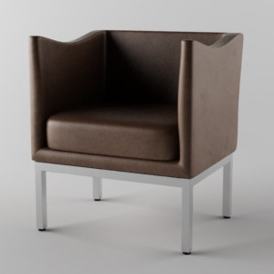 leather chair obj